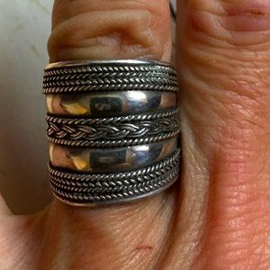 Vintage Tribal Silver Ring